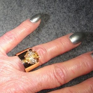 Imperial Citrine Ring 14k Yellow Gold Band